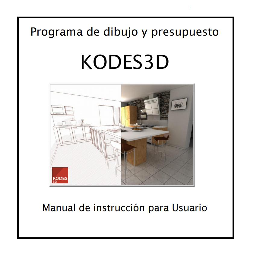 manual de instruccion Kodes3D software cocinas