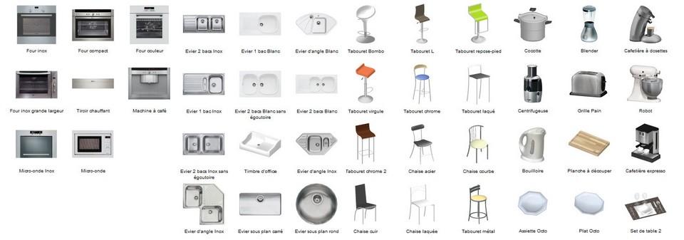 insertion objets logiciel 3D cuisines kodes3d
